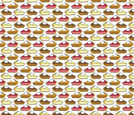 Delicious Pies fabric by klingercreative on Spoonflower - custom fabric