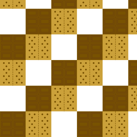 Neverending S'mores fabric by modgeek on Spoonflower - custom fabric