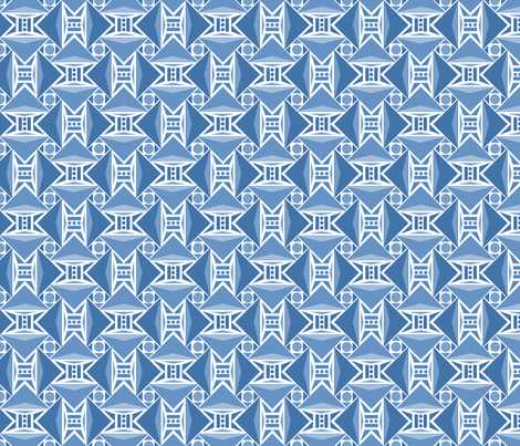 arrows BLUE fabric by atomic_bloom on Spoonflower - custom fabric