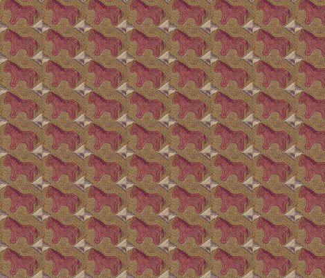 Plum Pony ©LLausen fabric by woolyredrug on Spoonflower - custom fabric