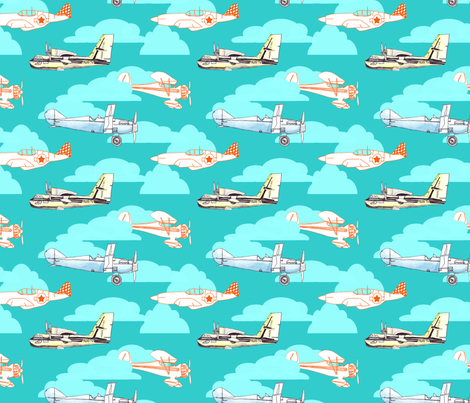 flying solo fabric by stafford on Spoonflower - custom fabric
