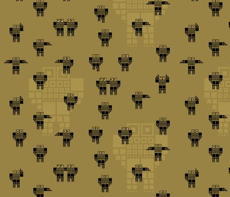 Robot_01 fabric by pacamo on Spoonflower - custom fabric