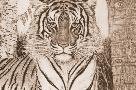 tigerheadetch fabric by boxercox on Spoonflower - custom fabric