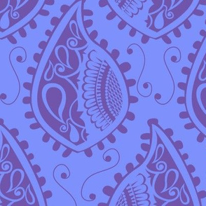 Daisy Paisley Blue