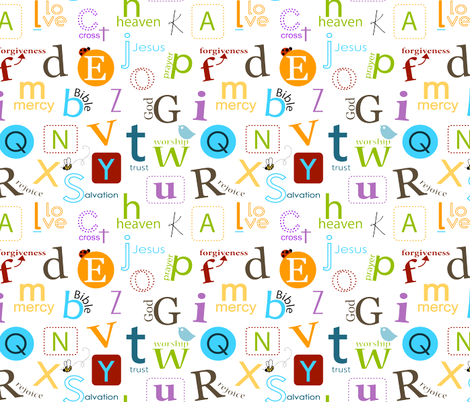 Bible abc for kids fabric by emilyb123 on Spoonflower - custom fabric