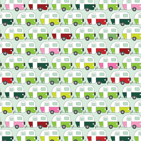 Colourful caravans fabric by ebygomm on Spoonflower - custom fabric