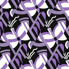 Art Deco butterfly (black and lilac)