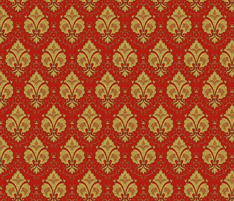 Regal red and gold fabric by unseen_gallery_fabrics on Spoonflower - custom fabric