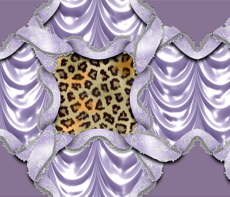 Leopards'n'Lace - Medaillon - Purple fabric by bonnie_phantasm on Spoonflower - custom fabric