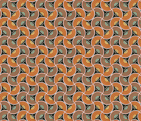 At the Earth's Core fabric by unseen_gallery_fabrics on Spoonflower - custom fabric
