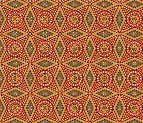 Medieval geometric cover fabric by unseen_gallery_fabrics on Spoonflower - custom fabric