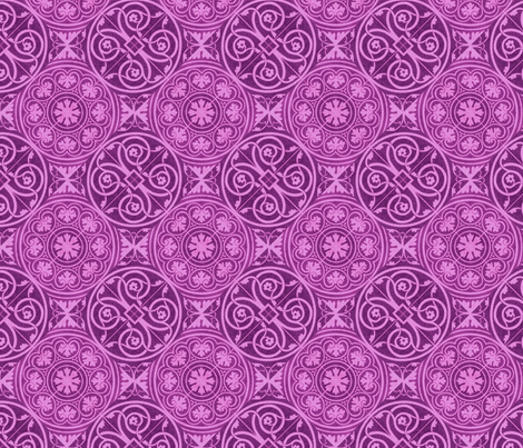 purple tile designs fabric by unseen_gallery_fabrics on Spoonflower - custom fabric