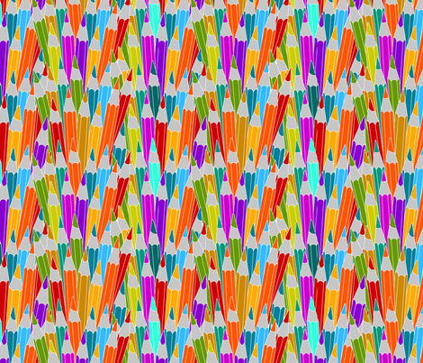 Pencils fabric by valmo on Spoonflower - custom fabric