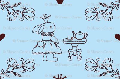 Bunny_princess_light blue_fabric-ch