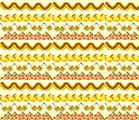 FOOD FUN SNACKS fabric by bluevelvet on Spoonflower - custom fabric