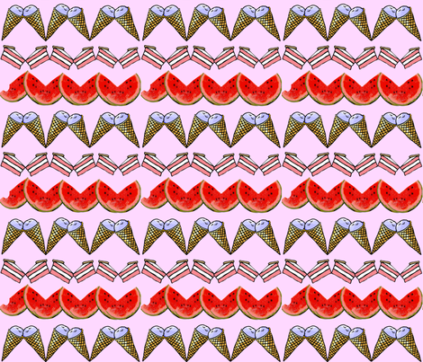 FOOD FUN SWEET ZIG ZAG fabric by bluevelvet on Spoonflower - custom fabric