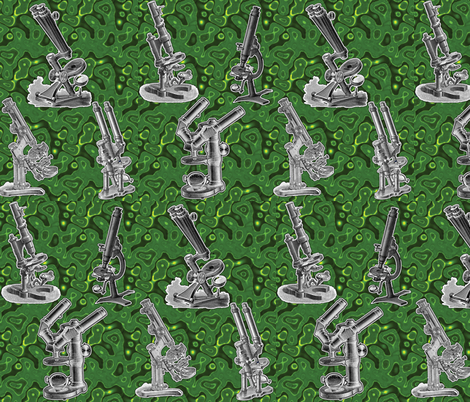 microscopefab_green fabric by craftyscientists on Spoonflower - custom fabric