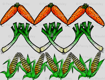FOOD FUN GARDEN VEGETABLES ZIG ZAG