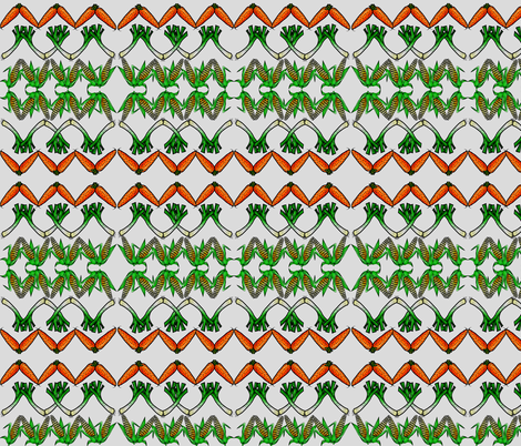 FOOD FUN GARDEN VEGETABLES ZIG ZAG fabric by bluevelvet on Spoonflower - custom fabric