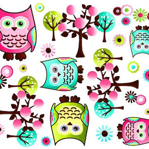 Pretty Owl Collage