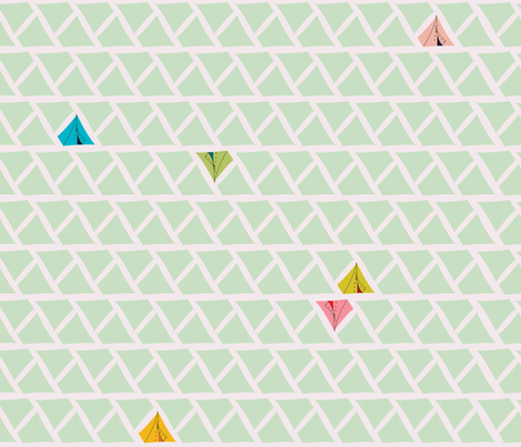 Tents & Triangles fabric by spoonnan on Spoonflower - custom fabric