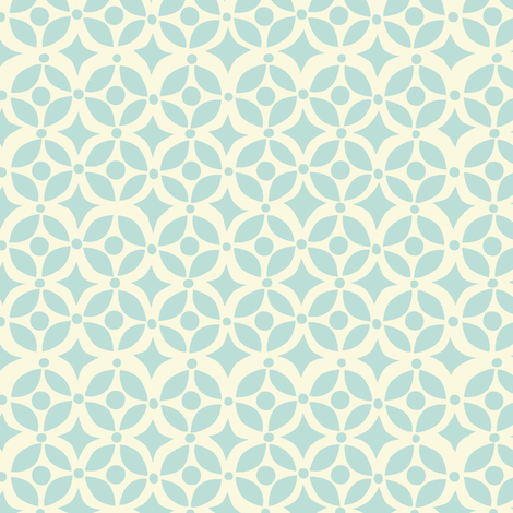 NESTING GEOMETRIC  BLUE fabric by bzbdesigner on Spoonflower - custom fabric