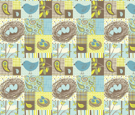 NESTING patchwork fabric by bzbdesigner on Spoonflower - custom fabric