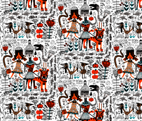 By the river fabric by ruusulampi on Spoonflower - custom fabric