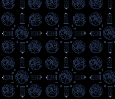 Doctor Who | Original Dramatic Thematic - Darker Edition fabric by featheralchemist on Spoonflower - custom fabric