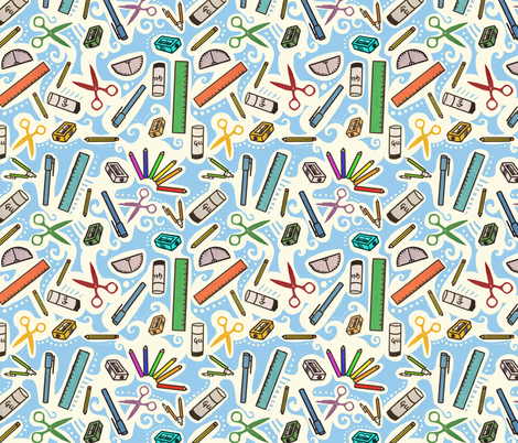 Back to School with Style fabric by lusykoror on Spoonflower - custom fabric