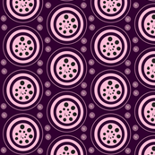 INTERIOR CIRCLES   -plum,pink,black