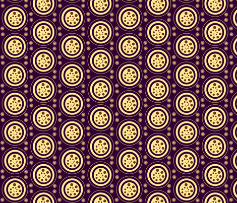 INTERIOR CIRCLES  -plum,yellow, brown fabric by anino on Spoonflower - custom fabric