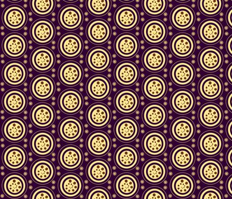 INTERIOR CIRCLES  -plum,yellow, brown fabric by anino on Spoonflower - custom fabric