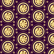 INTERIOR CIRCLES  -plum,yellow, brown