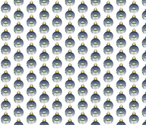 snowman_scenery_bauble  fabric by anino on Spoonflower - custom fabric