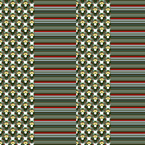 wreath and stripe