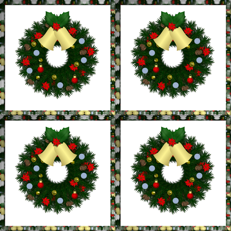 WREATH_topper fabric by anino on Spoonflower - custom fabric