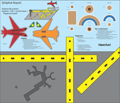 Schiphol airport fabric by zandloopster on Spoonflower - custom fabric