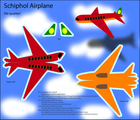 Schiphol airplane fabric by zandloopster on Spoonflower - custom fabric
