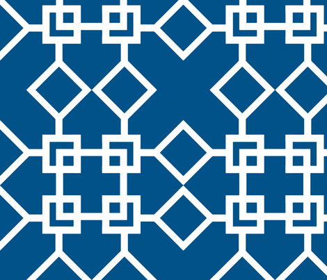 Climb the Trellis Navy Reverse fabric by honey&fitz on Spoonflower - custom fabric
