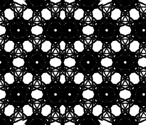Black & White Spiderweb fabric by pencilmein on Spoonflower - custom fabric