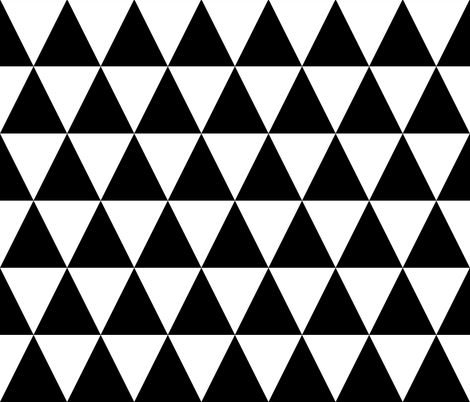 Black & White Triangles fabric by pencilmein on Spoonflower - custom fabric
