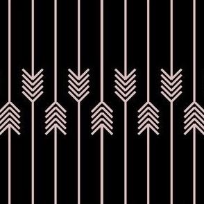 pink flip flop arrows on black