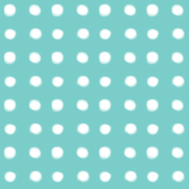 white polka dots on mint