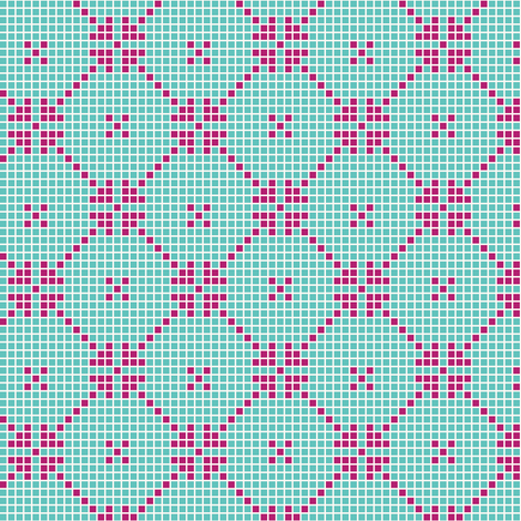 lace squares - fuchsia fabric by cheyanne_sammons on Spoonflower - custom fabric