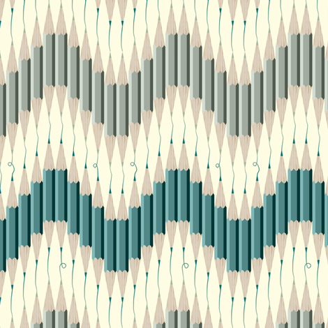 Chevron Pencil Squiggles fabric by candyjoyce on Spoonflower - custom fabric