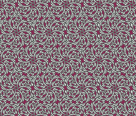 Fiddlehead Swirl  -red fabric by fireflower on Spoonflower - custom fabric