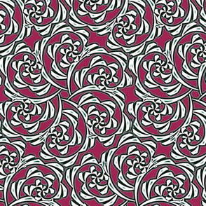 Fiddlehead Swirl  -red