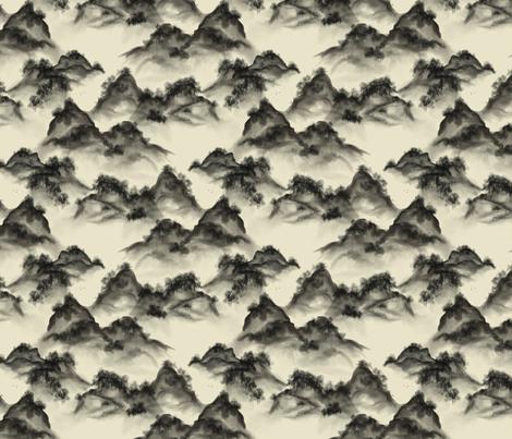 watercolor_hills_on_cream fabric by glindabunny on Spoonflower - custom fabric