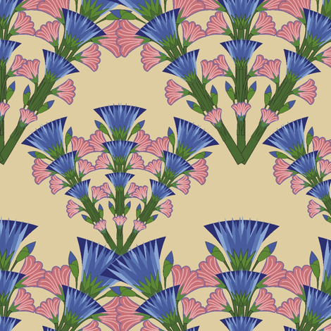 cornflower_y_belladona fabric by kirpa on Spoonflower - custom fabric